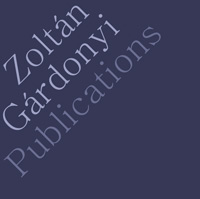Publications Zoltan Gárdonyi